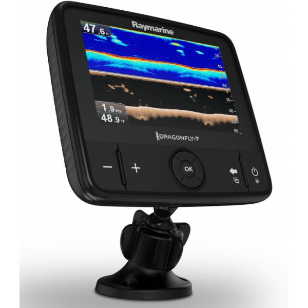 """Dragonfly 7PRO Display 7"""" a colori con CHIRP DownVision, CHIRP Sonar, trasduttore da poppa CPT-DVS, Wi-Fi, GPS e Cartografia CMAPEssential EU"""