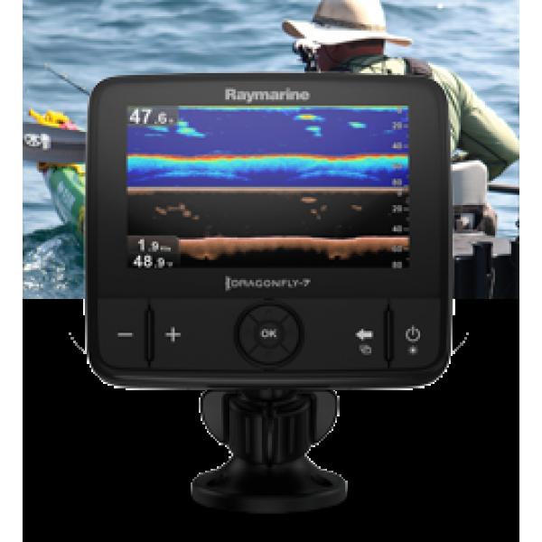 """Dragonfly 7PRO Display 7"""" a colori con CHIRP DownVision, CHIRP Sonar, Wi-Fi e GPS, senza carta e senza trasduttore"""