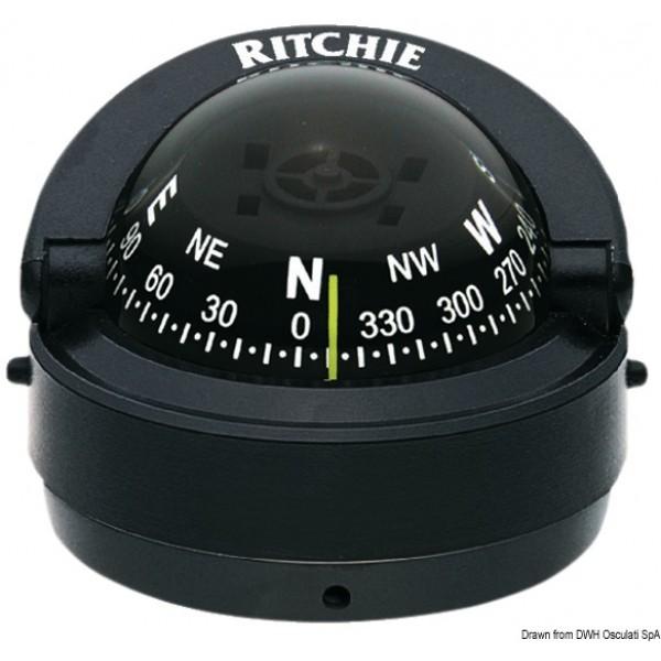 "Bussola Ritchie Explorer 2""3/4 esterna nera/nera"